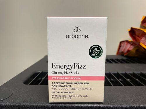 Arbonne EnergyFizz Ginseng Fizz Sticks - Strawberry Flavor - 30 Stick packs