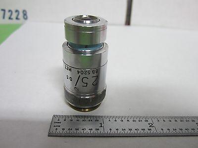 Microscope Objective Vickers England 25x Optics Binr6-19