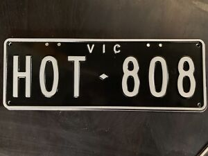 HOT808 number plates from Mazda 808 wagon