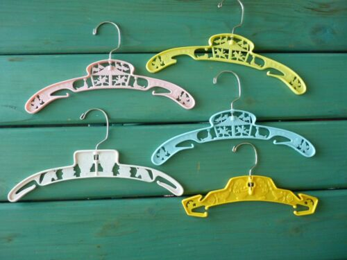 Vintage Baby/Child Clothes Hanger (x5) Swivel Circus Carousel Nursery Baby World