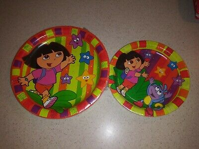 Dora The Explorer Birthday Party Supplies-Dora Starcatcher Plates Dinner Dessert
