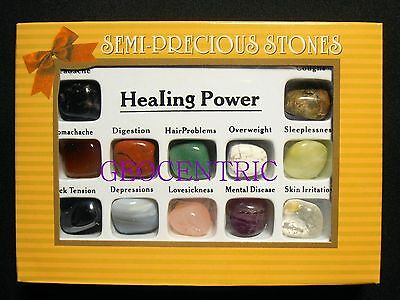 Healing Stone Gift Set Of 12 Stones To Help Balance And Revitalize Your Energy