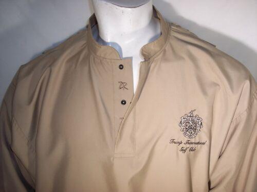 Zero Restriction Med Tan Lightweight Rain Jacket Trump International Golf Club