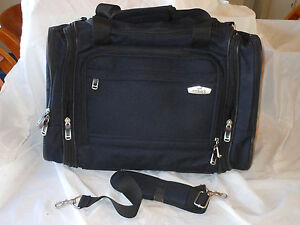 SLASHED-Embark-Navy-Blue-Carry-On-Workout-Samples-Shoulder-Bag