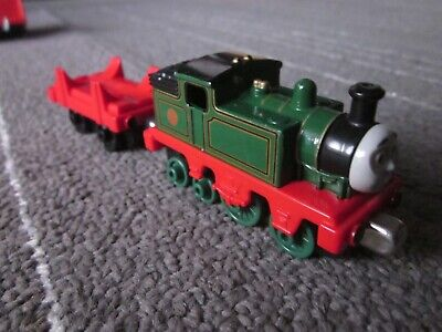 Thomas Friends Wooden Railway 2012 Whiff die cast plastic bottom Low cargo Lot