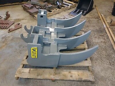 Mini Excavator 36 Root Rake With Ar400 1 Tines. Made In Usa