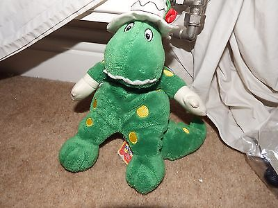 """RARE The wiggles Dorothy dinosaur soft plush figure toy 10"""" beanie character"""