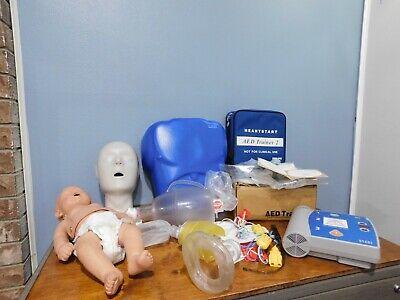 Lot Cpr Prompt Infant Baby Manikin Nursing Emt Laerdal Aed Trainer 2 M3752a