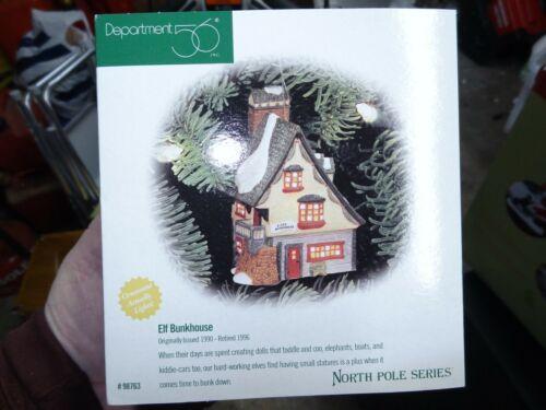 """Dept 56 North Pole Series """"Elf Bunkhouse"""" Excellent Condition"""