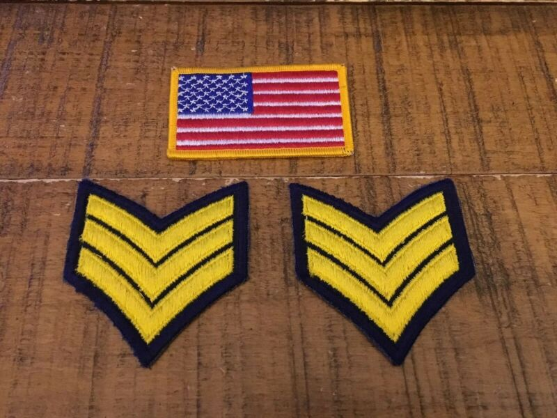 Minnesota Police Uniform Patches - American Flag/Arrows (x2) - Lot Of 3