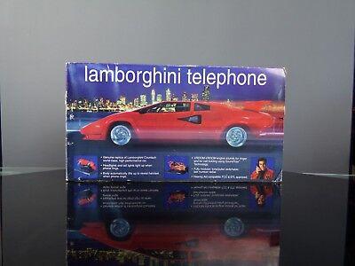 Téléphone animé Telemania Lamborghini Countach + box rétro 80