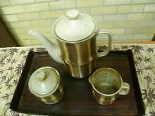 3 PIECE COFFEE POT, SUGAR BOWL AND MILK JUG. EXC COND. New Lambton Heights Newcastle Area Preview