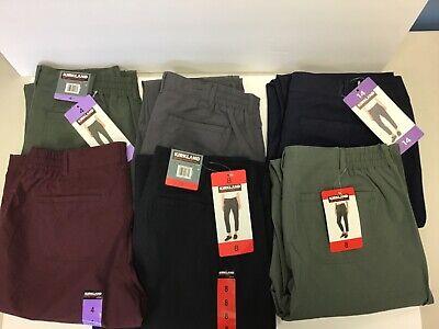 Kirkland Signature Ladies Stretch Waist Ankle Length Travel Pants NWT K5-7 Ladies Cropped Pants