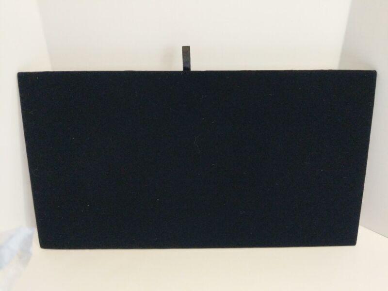 "Black Velvet Chain Jewelry Display Board Tray Insert 14 1/8"" x 7 5/8"""