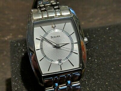 Bulova Silver Watch Model C877635 Silver Stainless Steel