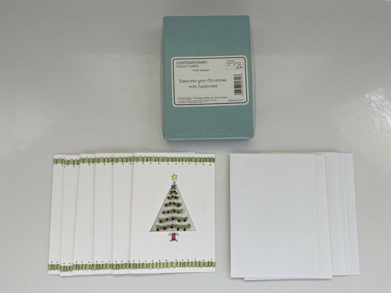 Lot of 6 Hallmark Christmas Tree / Holiday Cards w/Envelopes