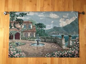 Tapestry Wall Art with Metal Hanging Rod