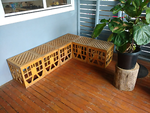 Wooden timber milk crates storage stools chairs shelves stacking Coogee Eastern Suburbs Preview