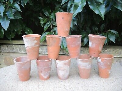 20 Old  Hand Thrown Terracotta Plant Pots 2.25