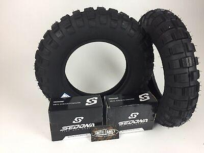 New Pair 2 MASSFX Tires & Free Tubes 3.50-8 SR 421 Front & Rear Honda Z50R Trail
