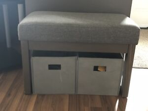Bench with Storage Boxes