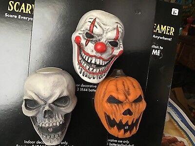 Spirit Halloween Lot of 3 Pocket Screamer Clown Skull Pumpkin SCREAMERS New Prop](Spirit Halloween Clown Prop)
