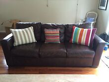 3 seater leather couch Carlingford The Hills District Preview