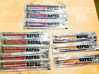Pilot Refill For Bp-s The Better Ballpoint Pen Rfj-3 Japan - Lot Of 10 Assorted