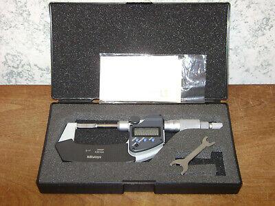 Mitutoyo 0-1 Inch Digital Blade Micrometer No 422-360-30 W Case