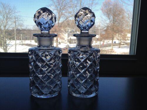 Pair Antique Blown Molded Cologne Bottles