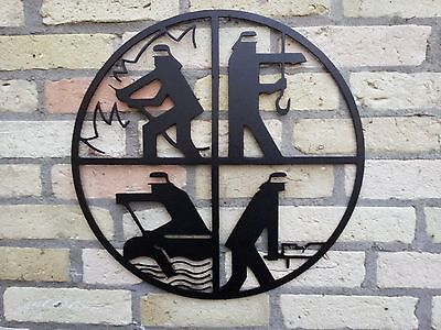 Feuerwehr STAHL-WAPPEN, Helm, Innungsschild, Zunft, Emblem, Schmuck
