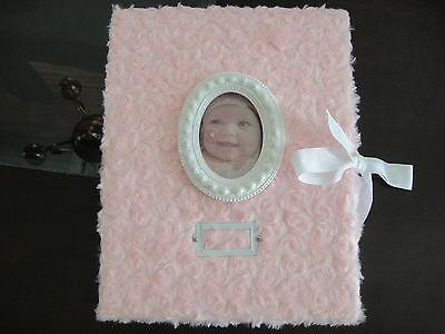 Baby Keepsake Frame (*NEW Baby Girl Pink Roses Princess Memory Keepsake Book with photo frame and)