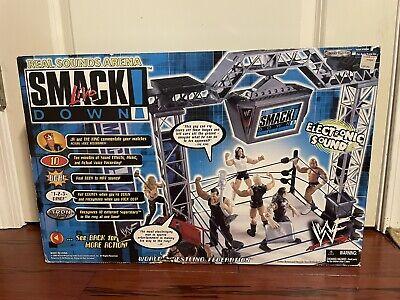 Smack Down Live WWF WWE Jakks Interactive Talking Real Sounds Arena