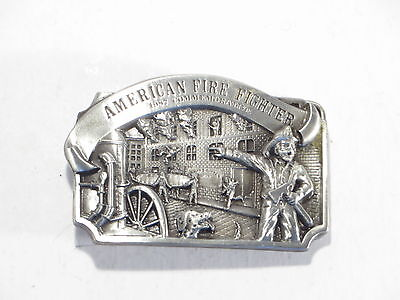 Arroyo Grande Belt Buckle American Fire Fighter 1987 Commemorative Ltd Ed. #2878