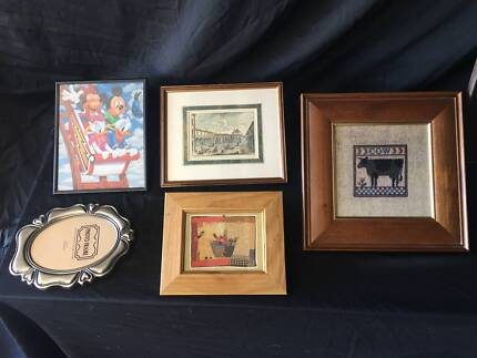 BULK LOT OF PICTURES (LARGE & SMALL) + SMALL EMPTY FRAME