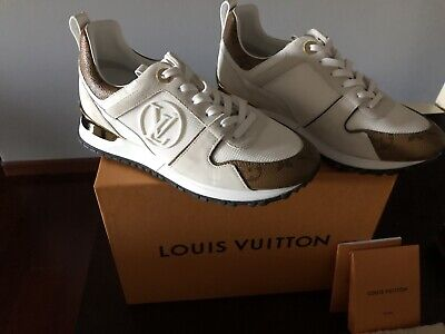 Louis Vuitton Womens Sneaker Shoe Sz 37 AUTHENTIC