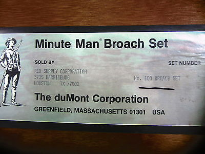 Dumont Minute Man Broach Set