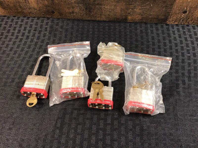 MFS Supply Laminated Padlocks A389 W/ Keys 5 Qty