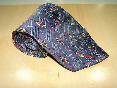 Younkers Blue Abstract Geometric Tie 59L 3 3 4W 100  Import Silk Made In Usa T 5