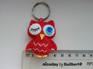 Handmade Felt Lovely Owl Keyring Bag Tag Love Cute Gift Present Family Friend