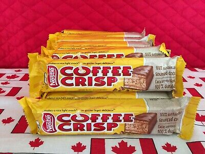 16 Canadian Nestle Coffee Crisp Full Size Chocolate Candy Bars! Ships from USA! Nestle Chocolate Coffee