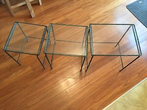 Iron and glass tables