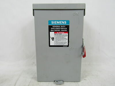Siemens Gf322nra Safety Switch 3p 60a 240vac Fusible