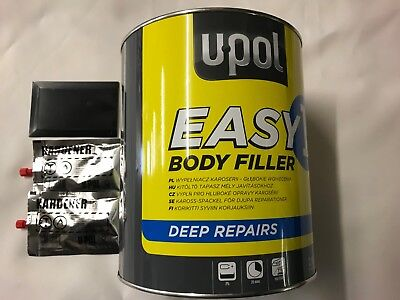 U-POL EASY 1  3.5 Litre Body Filler Easy Sand  Bodyshop  - FREE TRACKED DELIVERY