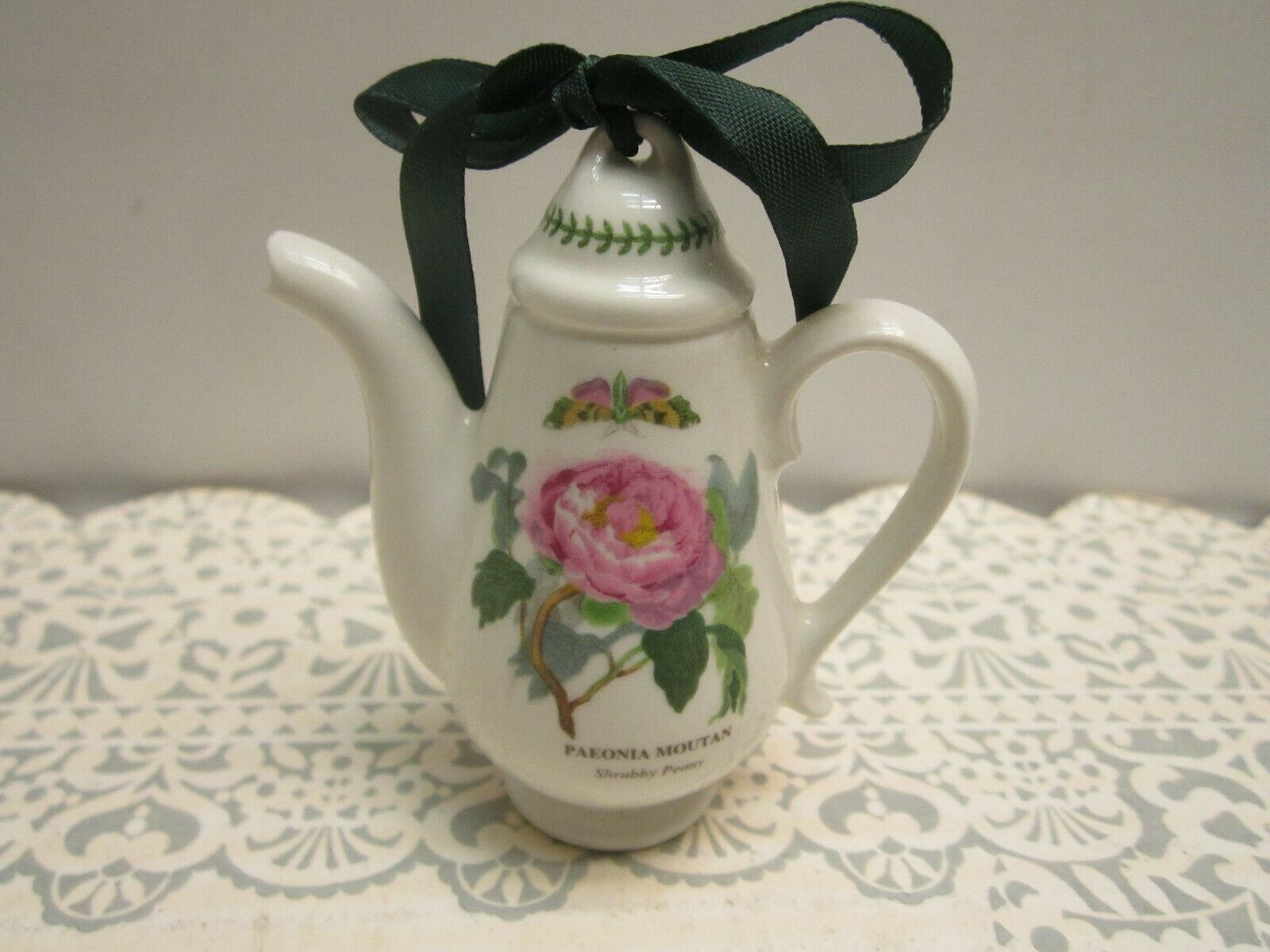 Portmeirion Botanic Garden Christmas Mini Coffepot Ornament