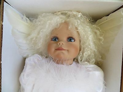 """Virginia Turner 19"""" Vinyl Baby Doll """"Snow Angel"""" In White Signed LE 97/500 Mint"""