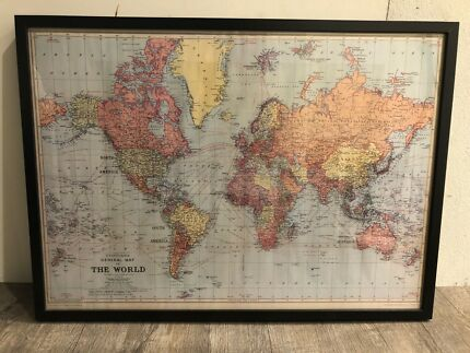 Ancient world map art gumtree australia inner sydney surry framed map of the world gumiabroncs Images