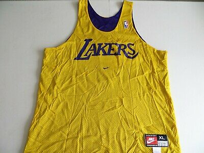 EUC! Authentic NIKE Lakers Reversible NBA Practice Jersey Kobe Lebron sz XLarge