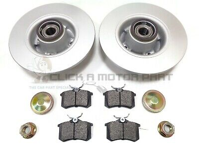 RENAULT MEGANE MK2 16V REAR BRAKE DISCS AND PADS WHEEL BEARINGS & ABS RINGS