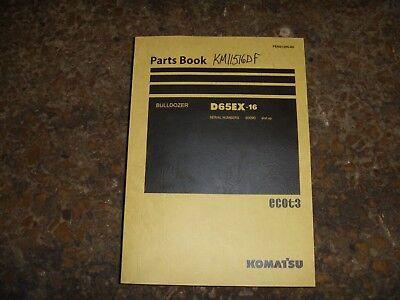 Komatsu D65ex-16 Bulldozer Crawler Dozer Parts Book Catalog Manual